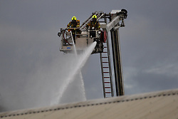 © Licensed to London News Pictures. 23/07/2020. London, UK. Over 80 fire fighters are at the scene of a large fire on an industrial estate has broken out in Minerva Road in Park Royal, Acton. The cause of the fire is unknown. Photo credit: Ray Tang/LNP