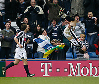 Photo: Steve Bond/Sportsbeat Images.<br />West Bromwich Albion v Charlton Athletic. Coca Cola Championship. 15/12/2007. Zoltan Gera (R) celebrates his second goal with a somersault