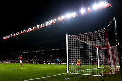 Mouhamadou-Naby Sarr of Charlton Athletic has his penalty saved by Marko Marosi of Doncaster Rovers - Mandatory by-line: Robbie Stephenson/JMP - 17/05/2019 - FOOTBALL - The Valley - Charlton, London, England - Charlton Athletic v Doncaster Rovers - Sky Bet League One Play-off Semi-Final 2nd Leg