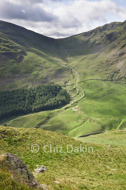 Looking towards the Gatescarth Pass from Rough Crag (above Haweswater)