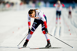 January 31, 2018 - Goms, SWITZERLAND - 180131 Tiril Udnes Weng of Norway crosses the finish line in the women's 10km classic technique interval start during the FIS U23 Cross-Country World Ski Championships on January 31, 2018 in Obergoms..Photo: Vegard Wivestad GrÂ¿tt / BILDBYRN / kod VG / 170090 (Credit Image: © Vegard Wivestad Gr¯Tt/Bildbyran via ZUMA Press)