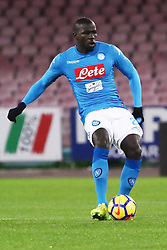 December 19, 2017 - Naples, Italy - KALIDOU KOULIBALY (SSC Napoli)..during the TIM Cup match between SSC Napoli and Udinese Calcio at Stadio San Paolo on December 19, 2017 in Naples, Italy. (Credit Image: © Paolo Manzo/NurPhoto via ZUMA Press)