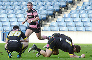 RBS FINALS DAY-2013-Cup Final<br /> Ross Curle runs past dejected Melrose players at full time<br /> Pic Neil Hanna