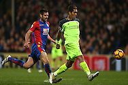 Roberto Firmino of Liverpool shoots and scores his sides 4th goal to make it 2-4. Premier League match, Crystal Palace v Liverpool at Selhurst Park in London on Saturday 29th October 2016.<br /> pic by John Patrick Fletcher, Andrew Orchard sports photography.