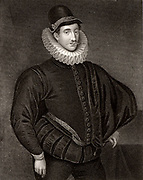 Fulke Greville, 1st Baron Brooke (1554-1628) English poet and statesman. Engraving.