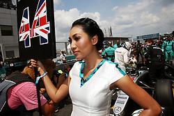 Grid girl for Lewis Hamilton (GBR) Mercedes AMG F1 W07 Hybrid.<br /> 02.10.2016. Formula 1 World Championship, Rd 16, Malaysian Grand Prix, Sepang, Malaysia, Sunday.<br /> Copyright: Photo4 / XPB Images / action press