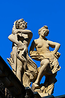 Statues, the Zwinger, Dresden, Saxony, Germany