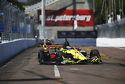 March 11, 2018 - St. Petersburg, Florida, United States of America - March 11, 2018 - St. Petersburg, Florida, USA: SŽbastien Bourdais (18) battles for position during the Firestone Grand Prix of St. Petersburg at Streets of St. Petersburg in St. Petersburg, Florida. (Credit Image: © Justin R. Noe Asp Inc/ASP via ZUMA Wire)