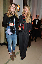 Left to right, ALEX WALSHAW and SADIE MONTOVANI at a reception hosted by The Rake Magazine and Claridge's to celebrate London Collections 2015 held at Claridge's, Brook Street, London on 8th January 2015.