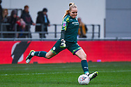 Manchester City Women goalkeeper Ellie Roebuck (26) clears during the FA Women's Super League match between Manchester City Women and West Ham United Women at the Sport City Academy Stadium, Manchester, United Kingdom on 17 November 2019.