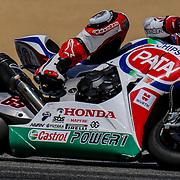 Jul 12-13 2014 U.S.A # 65 Jonathan Rea leads the second pack out of turn 2 during the FIM Superbike World Championship Laguna Sega, Salinas ca