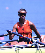Barcelona, SPAIN. NED W4X, Laurien VERMULST 1992 Olympic Rowing Regatta Lake Banyoles, Catalonia [Mandatory Credit Peter Spurrier/ Intersport Images]