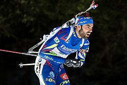 Simon Fourcade (FRA)  during Men 15 km Mass Start at day 4 of IBU Biathlon World Cup 2015/16 Pokljuka, on December 20, 2015 in Rudno polje, Pokljuka, Slovenia. Photo by Vid Ponikvar / Sportida