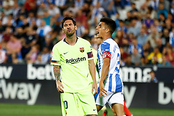September 26, 2018 - Leo Messi of FC Barcelona lamenting during the La Liga (Spanish Championship) football match between CD Leganes and FC Barcelona on September 26th, 2018 at Municipal Butarque stadium in Madrid, Spain. (Credit Image: © AFP7 via ZUMA Wire)