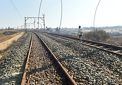 South Africa - Johannesburg - 14 July 2020 - Train cables vandalisednear Meadowlands in Soweto.<br /> Picture: Itumeleng English/African News Agency(ANA)