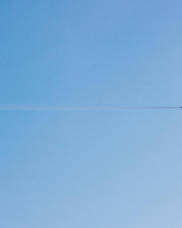 Jet-Stream agains a blue sky