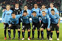 Fotball<br /> Sveits v Uruguay<br /> 03.03.2010<br /> Foto: Gepa/Digitalsport<br /> NORWAY ONLY<br /> <br /> Bild zeigt die Mannschaft von Uruguay mit Diego Forlan, Fernando Muslera, Luis Suarez, Alvaro Pereira, Jorge Fucile, Diego Godin (hinten von links); Andres Scotti (URU), Nicolas Lodeiro (URU), Maximilliano Pereira (URU), Diego Perez (URU) und Walter Gargano (URU/ vorne von links).<br /> Lagbilde Uruguay