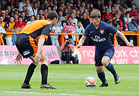 Barnet FC vs Arsenal FC Pre-Season Friendly 18/07/09<br /> Photo Nicky Hayes/Fotosports International<br /> Andrei Arshavin takes on Barnet's Gary Breen.