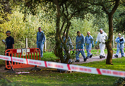 "Police at Tottenham Cemetery, London, where the body of a man was found this morning with several gunshot wounds.  September 3, 2018.  See NATIONAL story NNGRAVE.  A 22-year-old man was found shot dead in a north London graveyard this morning.  The body with several gunshot wounds was found by a member of the public who dialled 999 inside Tottenham Cemetery just before 8am.  The 62-acre cemetery opened at 7.30am and is less than a mile from Tottenham Hotspurs stadium.  A spokesman for Scotland Yard said: ""A murder investigation has been launched in Tottenham after a man was fatally shot in Tottenham Cemetery."". London, September 03 2018."