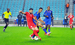March 22, 2019 - Rades, Tunisia - Siyam Ben Youssef(2) of Tunisia  and Baden Horst Felix(7) during the Match Tunisia vs Eswatini at the Rades Olympic stadium in the last qualifying round of the 2019 African Nations Cup finals vs. Tun vs Eswatini 4/0. (Credit Image: © Chokri Mahjoub/ZUMA Wire)