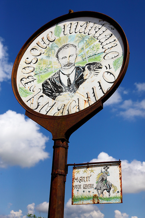 Revolutionary sign in Matanzas, Cuba.