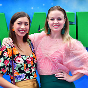 Amalia Vitale and Joanne Clifton attend the Shaun the Sheep Movie: Farmageddon, at ODEON LUXE on 22 September 2019,  London, UK.