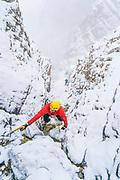 Jake Hirschi on Willard Falls WI3, Willard, Utah