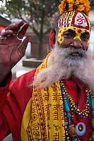 In Hinduism, sadhu is a common term for an ascetic or yogi who has given up pursuit of the first three Hindu goals of life: kama (enjoyment), artha (practical objectives), and dharma (duty). The sadhu is dedicated to achieving the fourth and final Hindu goal of life - liberation through meditation. Sadhus usually wear ochre colored clothing, symbolizing renunciation