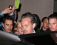 Matthew Perry leaving the Playhouse Theatre after performing in The End of Longing