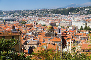 Nice, France elevated view from castle hill
