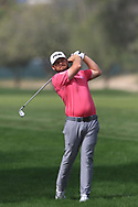 Tyrrell Hatton (ENG) on the 3rd during Round 2 of the Omega Dubai Desert Classic, Emirates Golf Club, Dubai,  United Arab Emirates. 25/01/2019<br /> Picture: Golffile | Thos Caffrey<br /> <br /> <br /> All photo usage must carry mandatory copyright credit (© Golffile | Thos Caffrey)