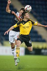 Falkirk's Will Vaulks and  Livingston Danny Mullen.<br /> Falkirk 4 v 1 Livingston, Scottish Championship game played today at the Falkirk Stadium.<br /> ©Michael Schofield.