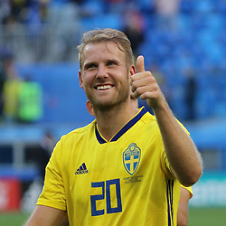 July 3, 2018 - Russia - July 03, 2018, St. Petersburg, FIFA World Cup 2018 Football, the playoff round. Football match of Sweden - Switzerland at the stadium of St. Petersburg. Player of the national team Ola Toivonen. (Credit Image: © Russian Look via ZUMA Wire)