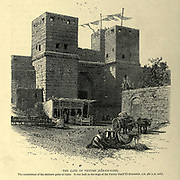 The Gate of Victory (Bab-en-Nasr), Cairo, Wood engraving of from 'Picturesque Palestine, Sinai and Egypt' by Wilson, Charles William, Sir, 1836-1905; Lane-Poole, Stanley, 1854-1931 Volume 4. Published in 1884 by J. S. Virtue and Co, London