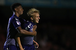 Charlton Athletic's George Lapsie celebrates scoring his side's second goal of the game