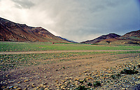 Expansive landscape of the Tibetan countryside.