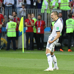 July 1, 2018 - Moscow, Russia - July 01, 2018, Russia, Moscow, FIFA World Cup 2018, the playoff round. Football match Spain - Russia at the stadium Luzhniki. Player of the national team Denis Cheryshev. (Credit Image: © Russian Look via ZUMA Wire)