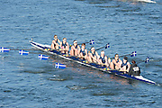 London, United Kingdom. Clydesdale ARC.   from Barnes Rail Bridge. 2014 Women's Head of the River Race. Chiswick to Putney, River Thames.  Saturday  15/03/2014    [Mandatory Credit; Peter Spurrier/Intersport-images]