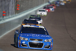 November 19, 2017 - Homestead, Florida, United States of America - November 19, 2017 - Homestead, Florida, USA: Kyle Larson (42) battles for position during the Ford EcoBoost 400 at Homestead-Miami Speedway in Homestead, Florida. (Credit Image: © Justin R. Noe Asp Inc/ASP via ZUMA Wire)