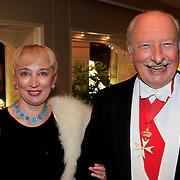 NLD/Noordwijk/20110924 - Kika Grand Gala 2011, Prins Anton Esterhazy de Galantha en partner