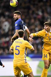 November 14, 2019, Paris, France, France: Olivier Giroud (Fra) vs Artur Craciun  (Credit Image: © Panoramic via ZUMA Press)