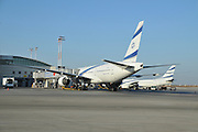 Israel, Ben-Gurion international Airport. El-Al Boeing 777-200