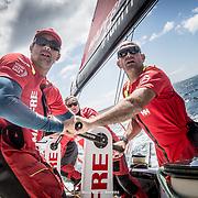 © María Muiña I MAPFRE: Xabi Fernández y Willy Altadill entrenando a bordo del MAPFRE. Xabi Fernández and Willy Altadill training on board MAPFRE.