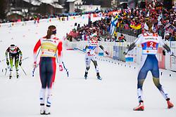 February 24, 2019 - Seefeld In Tirol, AUSTRIA - 190224 Stina Nilsson of Sweden and Maja Dahlqvist of Sweden competes in women's team sprint final during the FIS Nordic World Ski Championships on February 24, 2019 in Seefeld in Tirol..Photo: Joel Marklund / BILDBYRN / kod JM / 87888 (Credit Image: © Joel Marklund/Bildbyran via ZUMA Press)