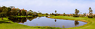 PANORAMA - Foto van Grote waterhindernissen bij PalmGolf Marrakech Palmeraie in Marrakech. PalmGolf Marrakech Palmeraie was het eerste golfresort in Marokko. De 27-holes golfbaan  werd ontworpen door Robert Trent Jones Sr en valt onder het management van Troon Golf.