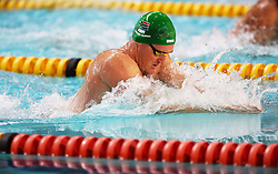 12082018 (Durban) Top Swimmer Cameron van der Burg compete in man 50 meters Breaststroke heat 8 during the final day in the coastal city of Durban were they play host to the 2018 SA National Swimming Championships (25m), with the action set to start from 9th to 12th August at the Kings Park Aquatics Centre.<br /> Picture: Motshwari Mofokeng/African News Agency (ANA)