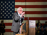 20 JANUARY 2020 - DES MOINES, IOWA: US Senator BERNIE SANDERS (Ind-VT) speaks during a campaign rally at the State Historical Museum of Iowa in Des Moines. Sen. Sanders is in Iowa campaigning to be the Democratic presidential nominee in 2020. Iowa hosts the first selection event of the presidential election cycle. The Iowa Caucuses are Feb. 3, 2020.           PHOTO BY JACK KURTZ