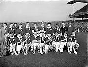 Interprovincial Railway Cup Hurling Final, .Leinster v Munster, .Leinster Team.Leinster.0-9.Munster.0-5.17.03.1954, 03.17.1954, 17th March 1954,