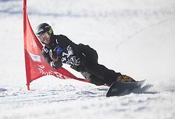 Beaulieu Sebastien during the men's Snowboard giant slalom of the FIS Snowboard World Cup 2017/18 in Rogla, Slovenia, on January 21, 2018. Photo by Urban Meglic / Sportida