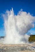 Fountain Geyser erupting in Yellowstone National Park